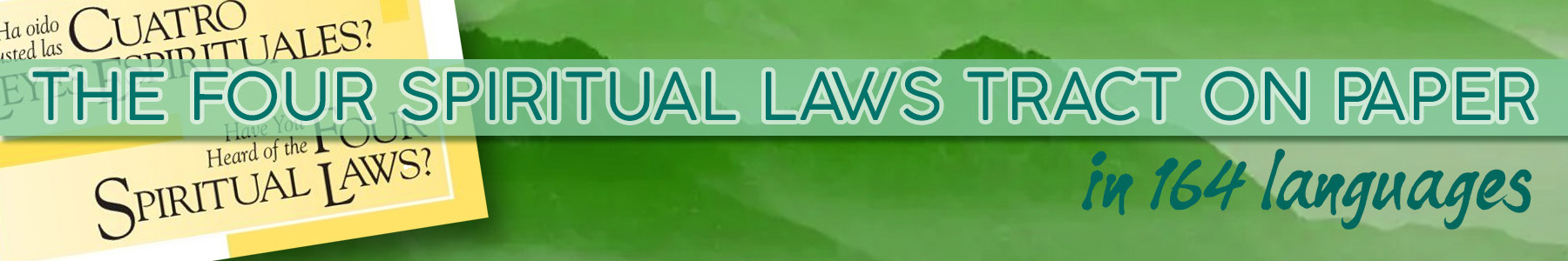 Four Spiritual Laws Tract on Paper